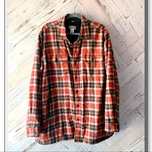 L.L. Bean Fleece Lined Flannel Shirt